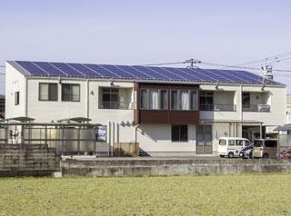 デイサービスまどか屋上のソーラーパネル
